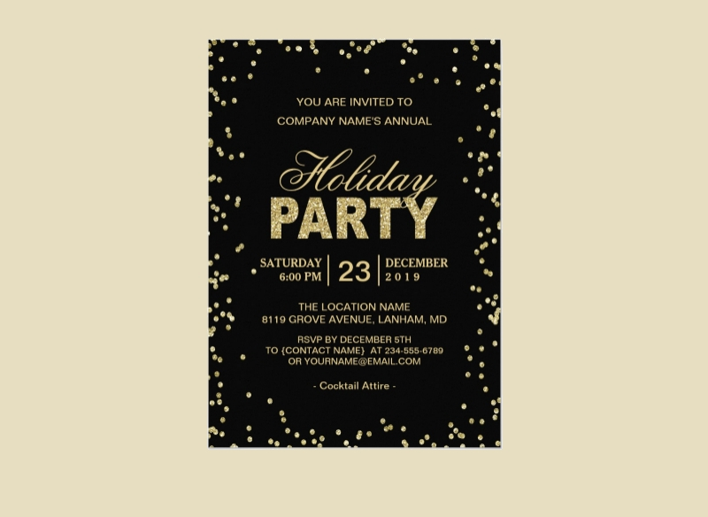 corporate holiday party invitation1