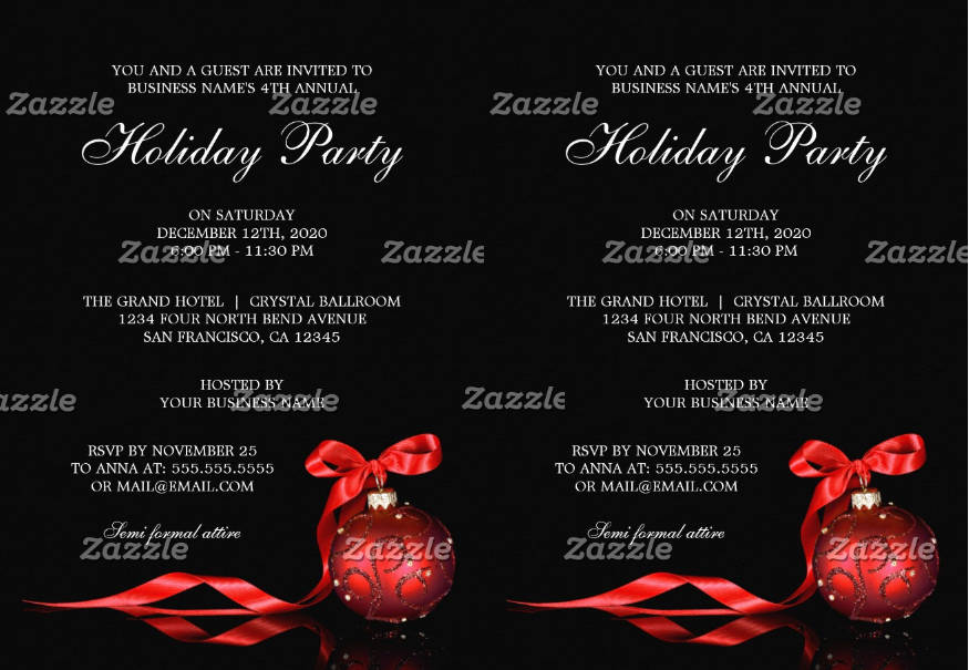 corporate holiday party invitation2