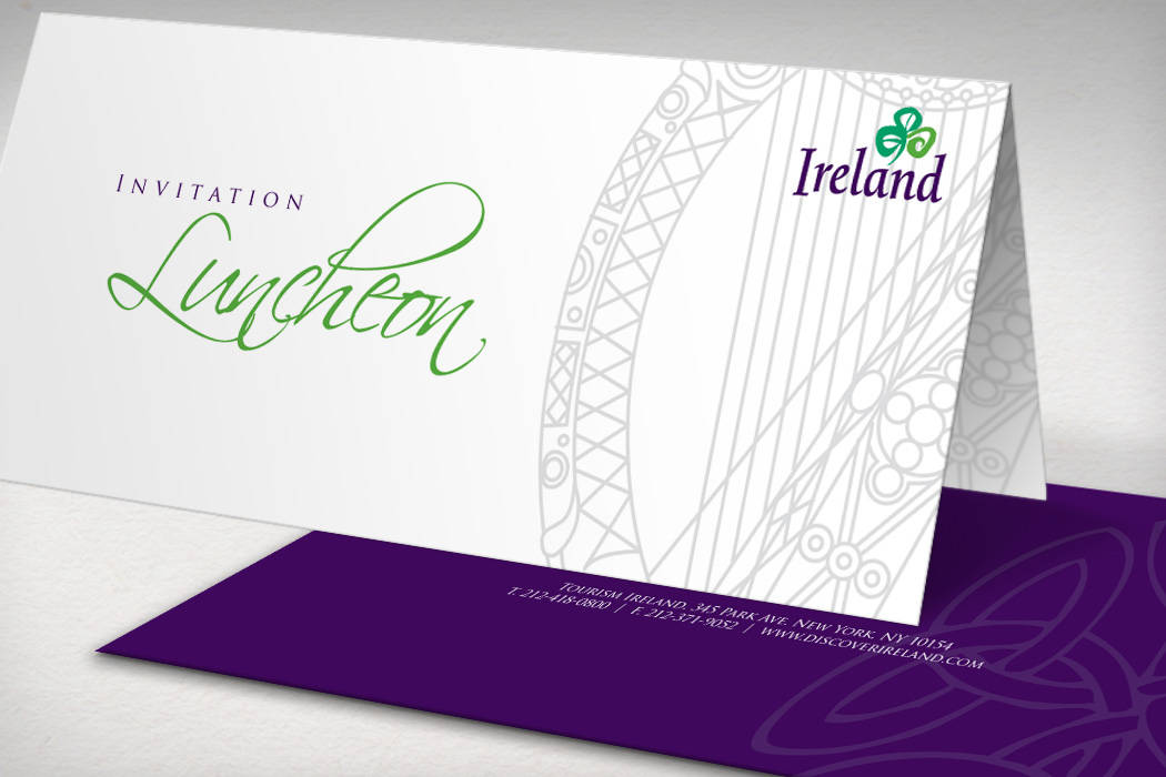 corporate lunch printed invitation