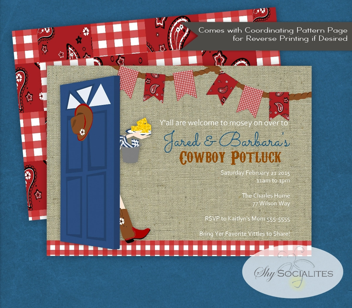 country potluck invitation