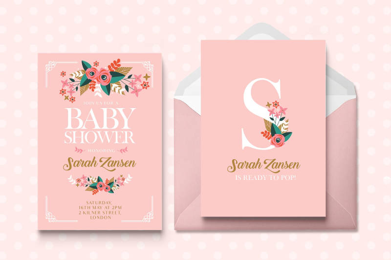 creative baby shower invitation