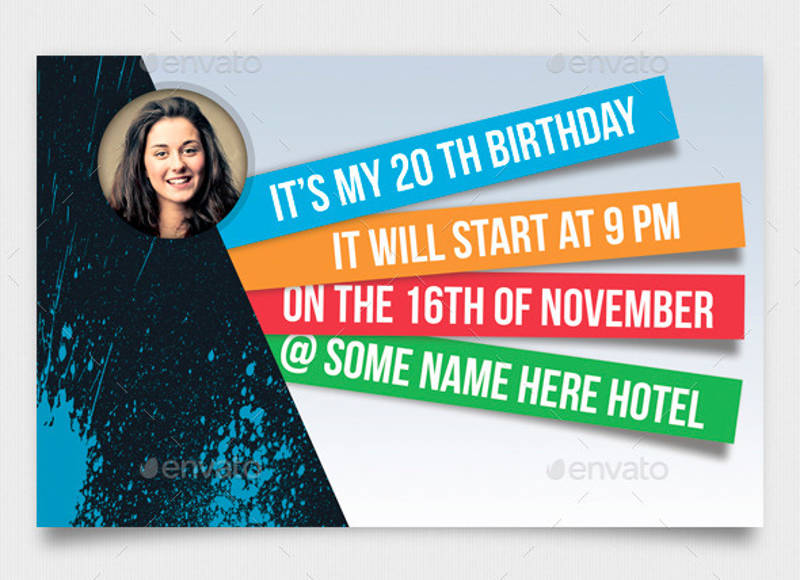 creative birth day invitation