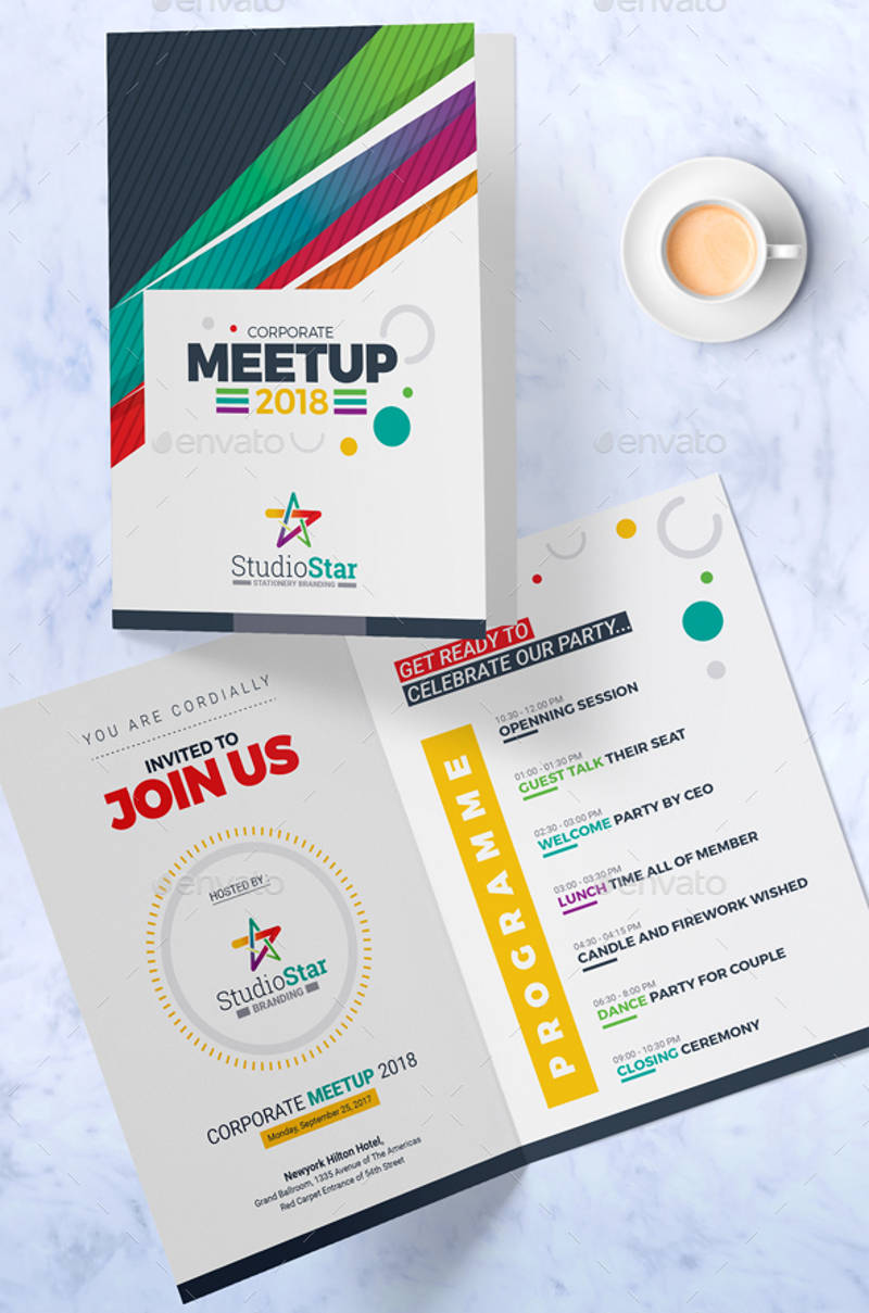 creative corporate invitation card design template