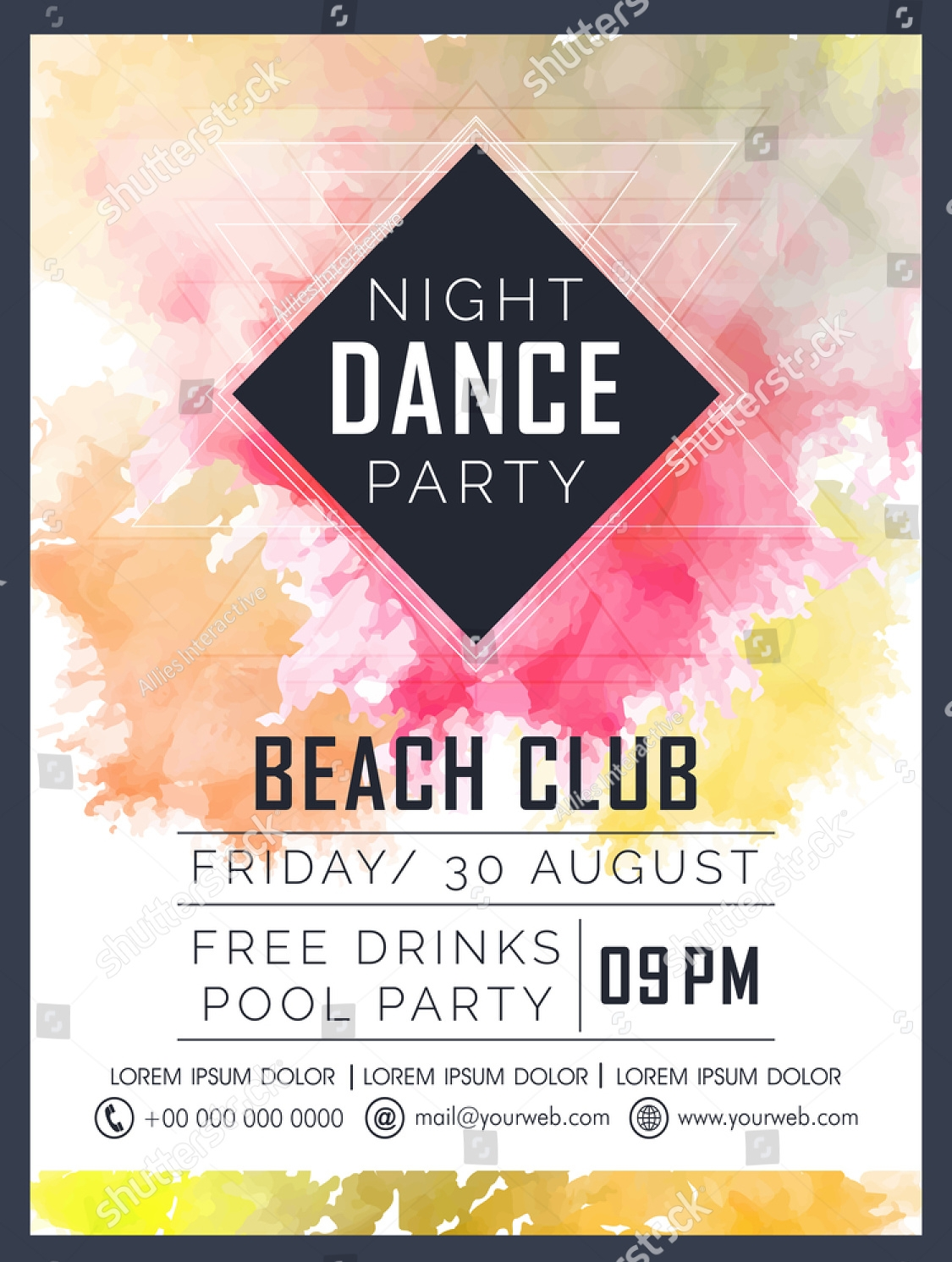 creative dance party invitation