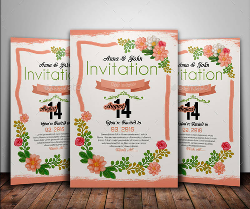 creative floral invitation card