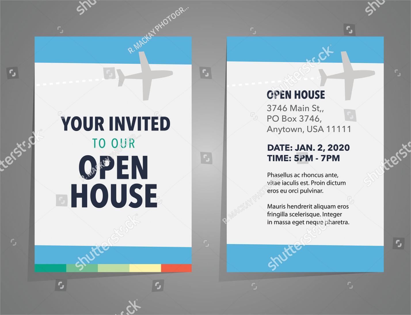 creative open house invitation
