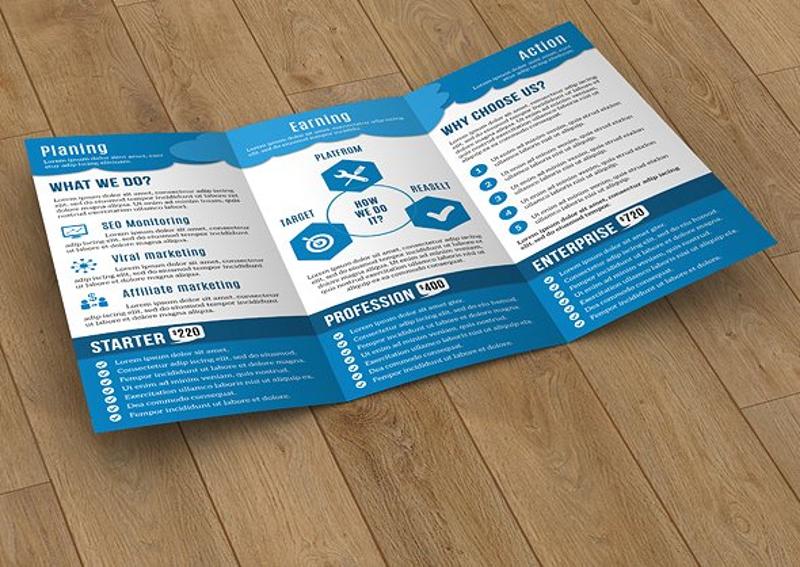 creative social media marketing brochure