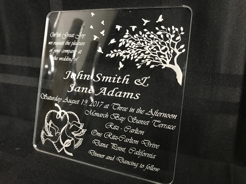custom acrylic wedding invitations design