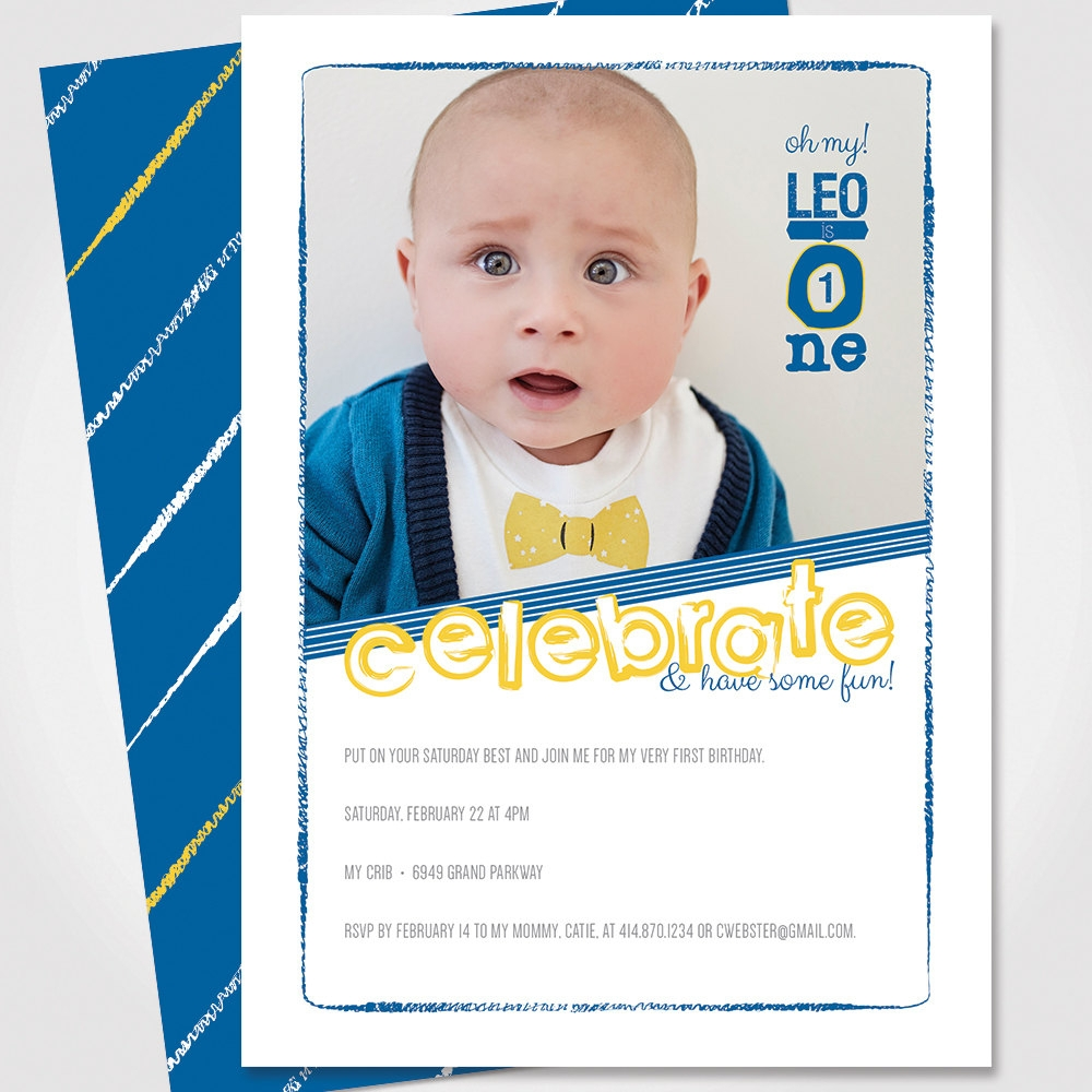custom childrens birthday invitation