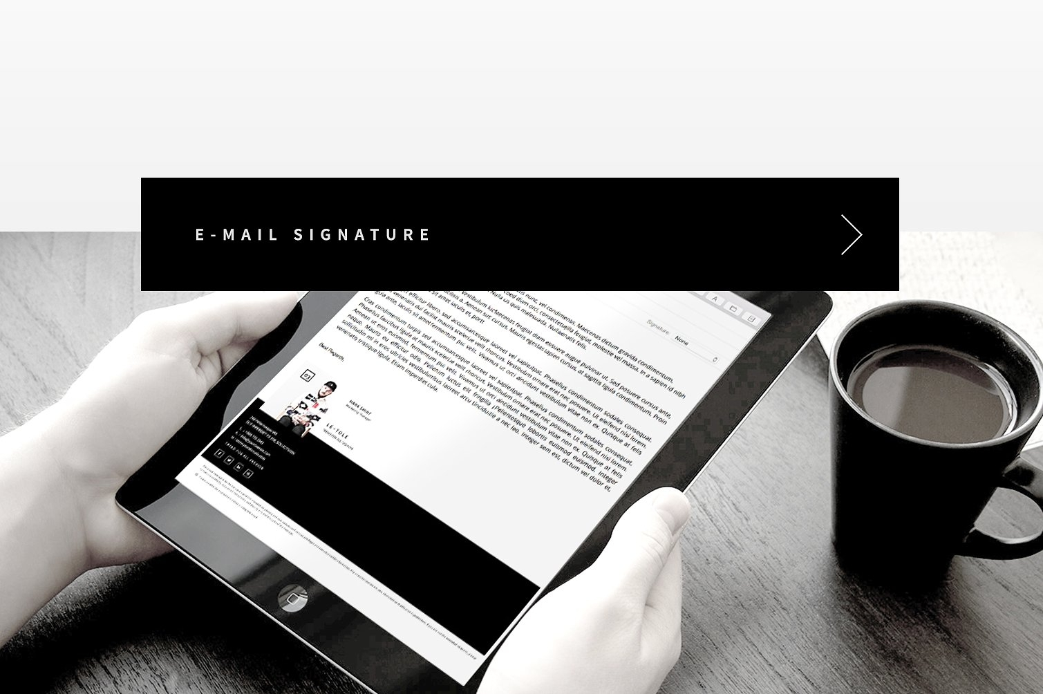 custom company email signature