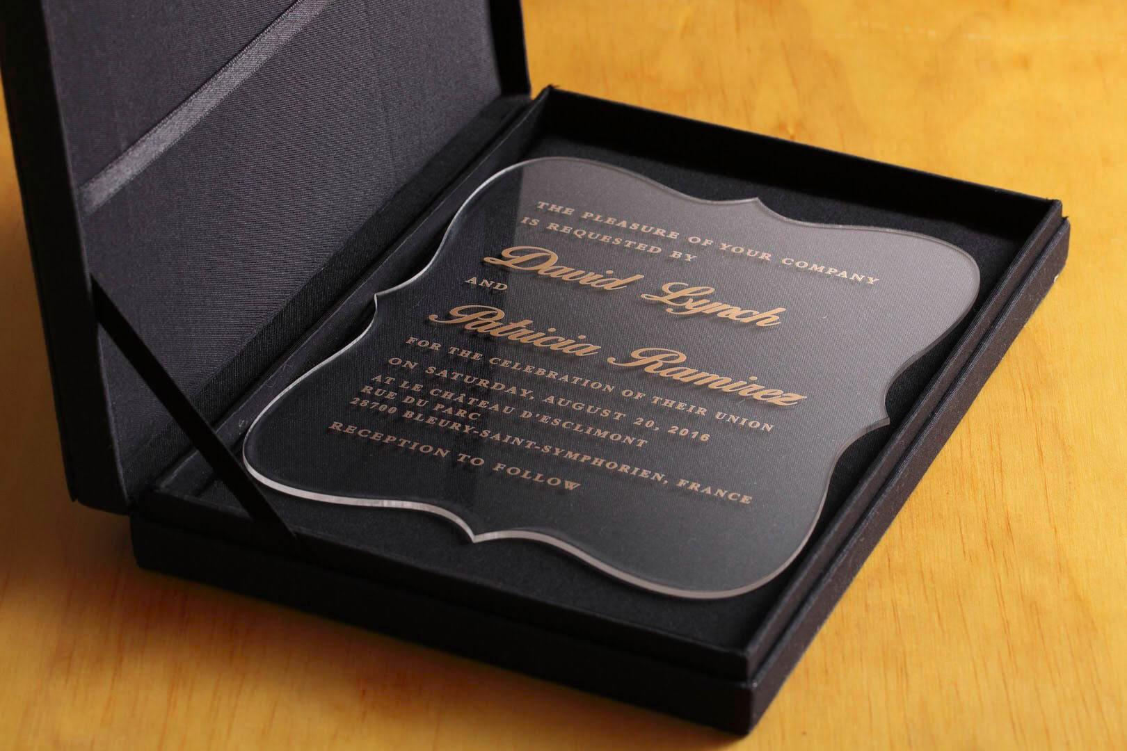 custom wedding luxury invitation