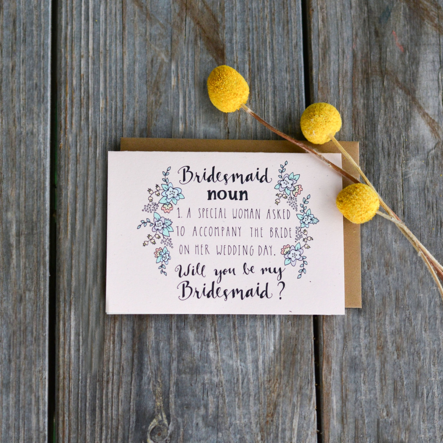 customizable bridesmaid invitation