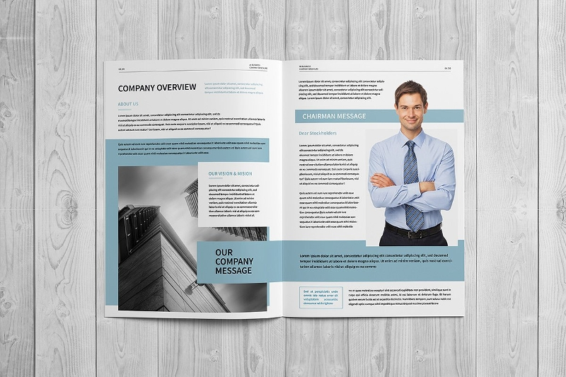 customizable company brochure design