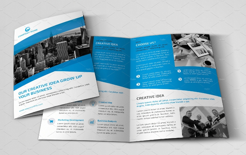 customizable corporate bi fold brochure