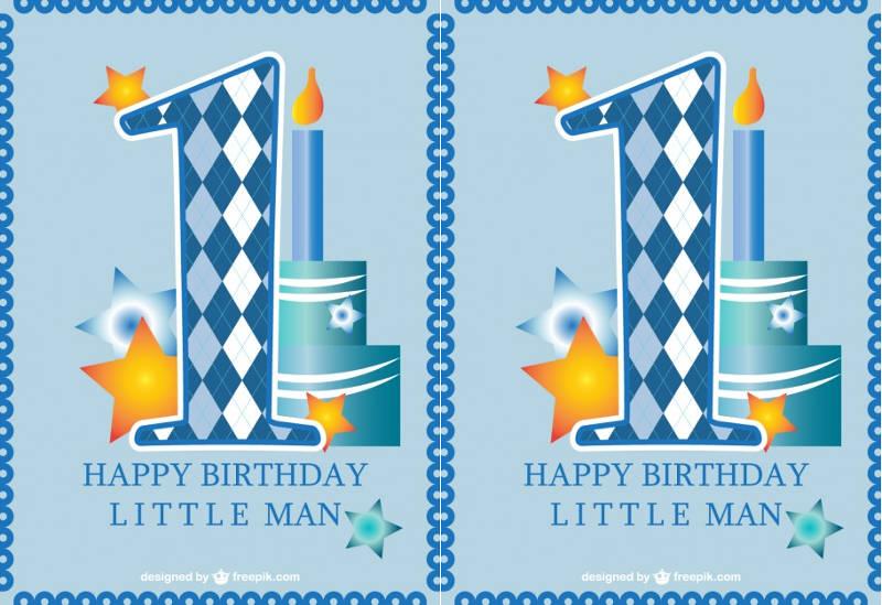 cute first birthday invitation card baby boy