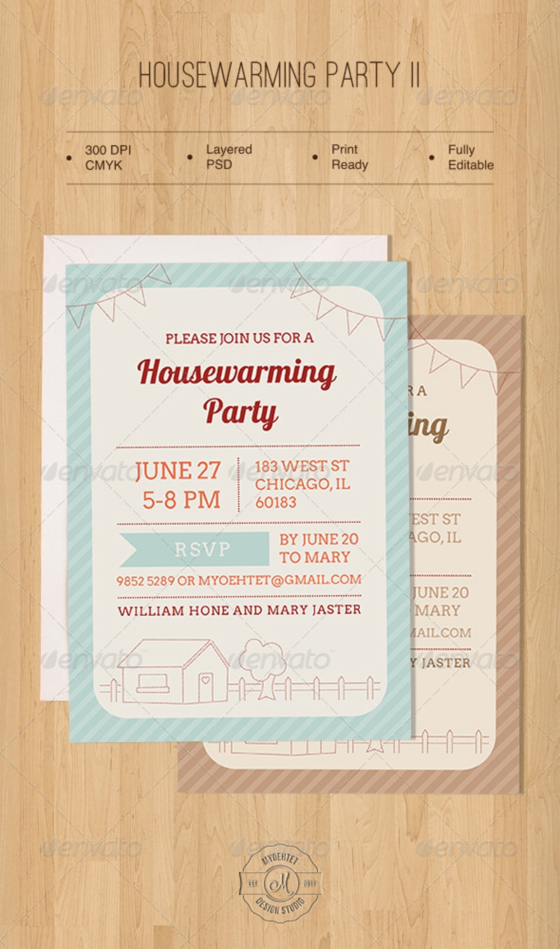 cute housewarming party invitation