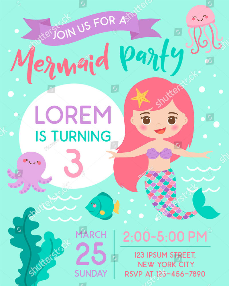 15 under the sea birthday invitation designs and examples psd ai