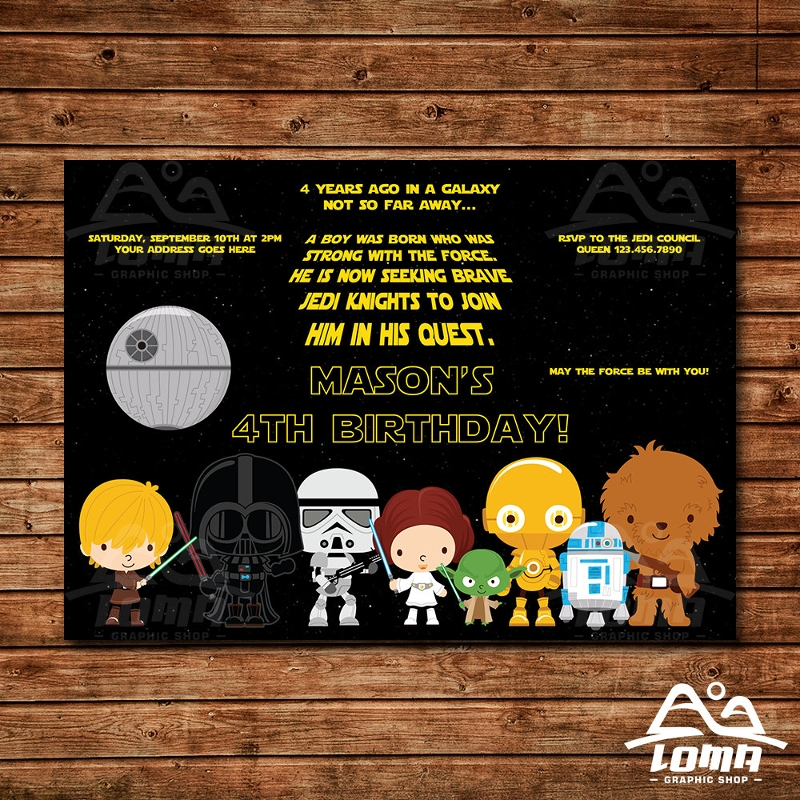 cute star wars invitation