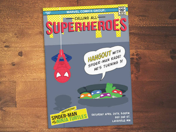 cute superhero birthday invitation1