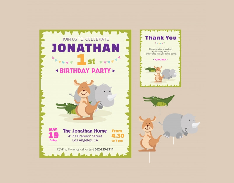 cute theme party invitation