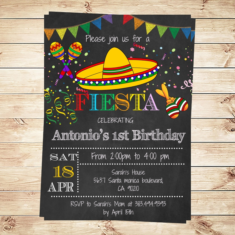 diy party fiesta invitation
