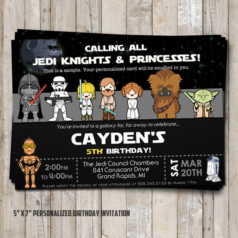 diy star wars invitation