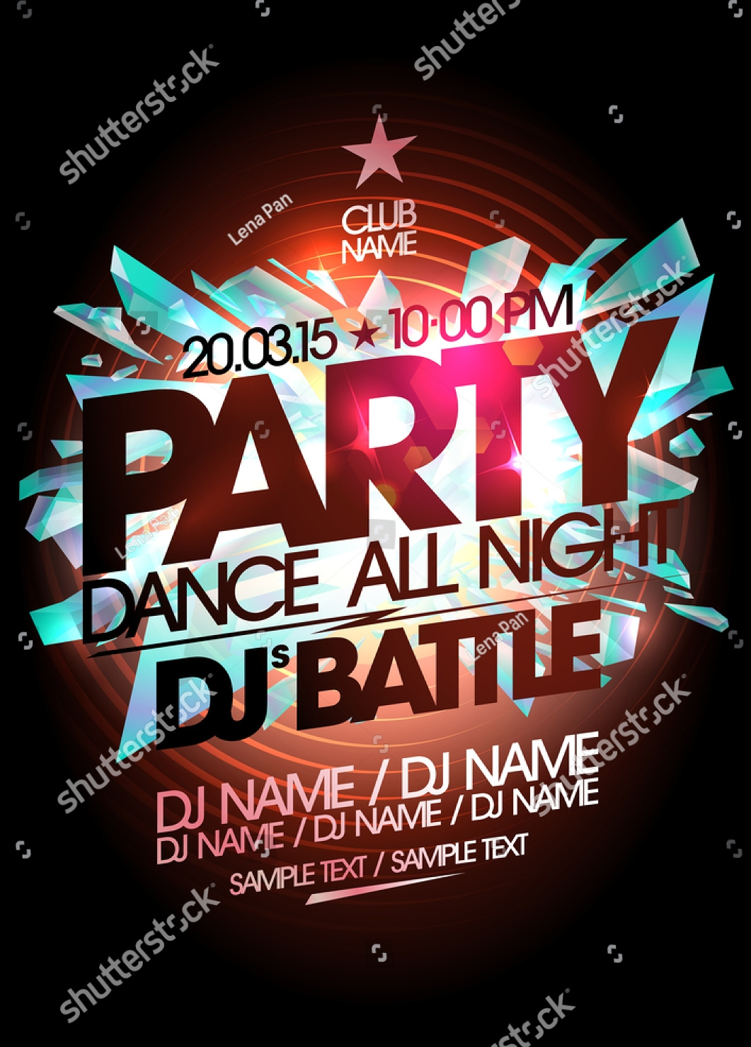dj dance party invitation