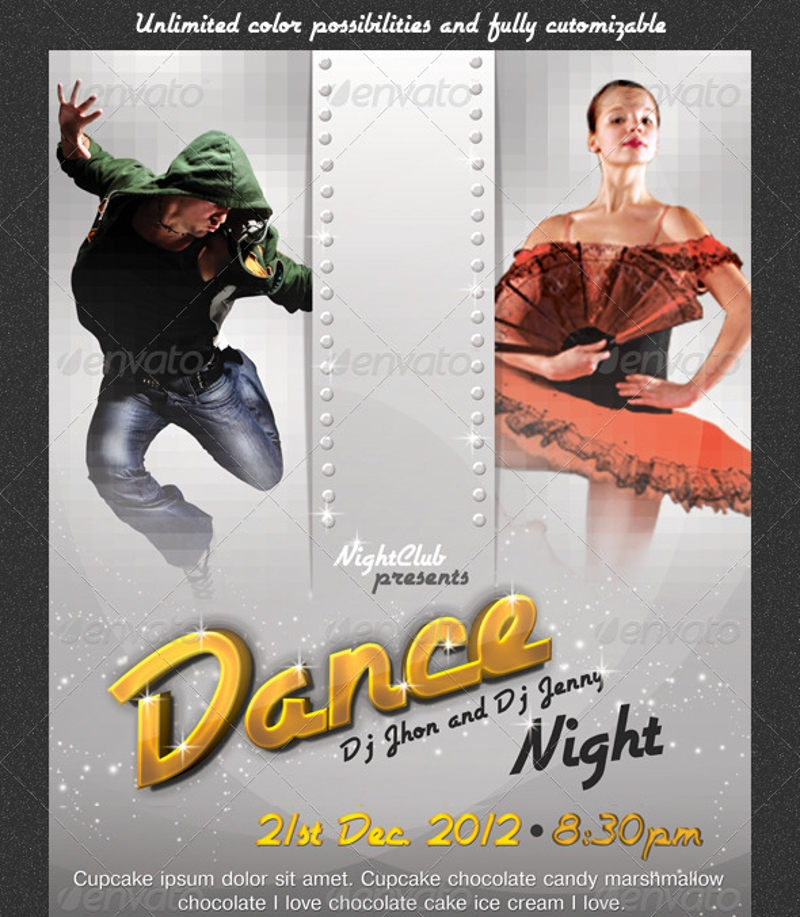 dance night party invitation