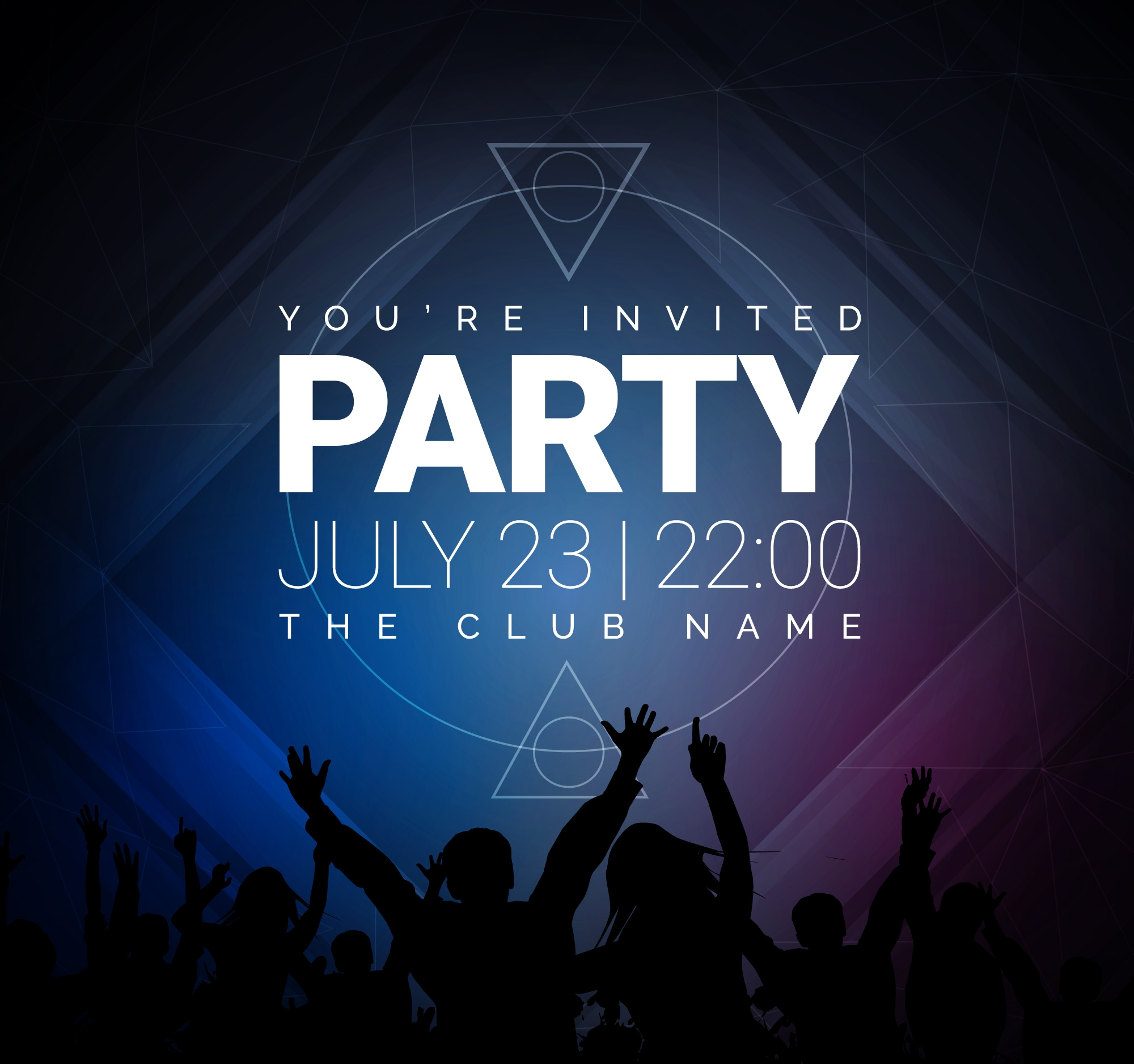 dark dance party invitation