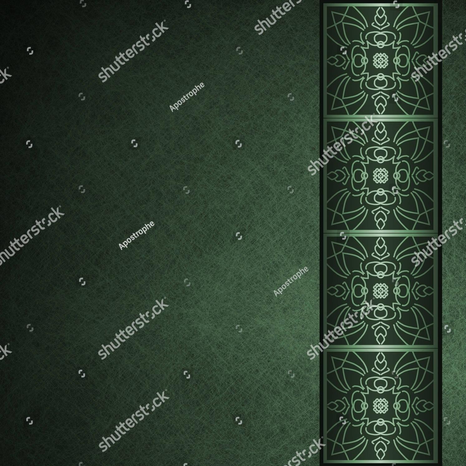 dark green background formal invitation