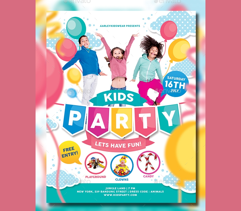 daycare childrens party invitation