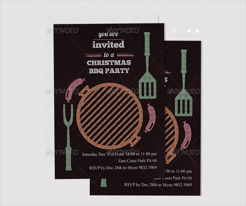 decorative bbq party invitation