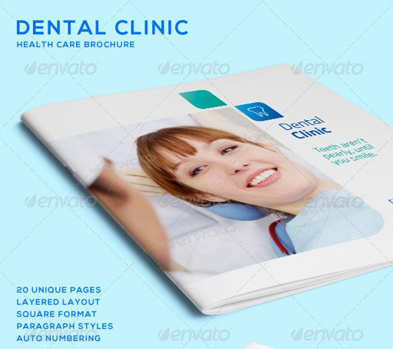 dental clinic health care brochure