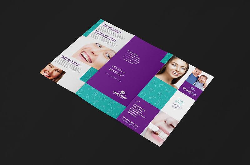 dental clinic trifold brochure