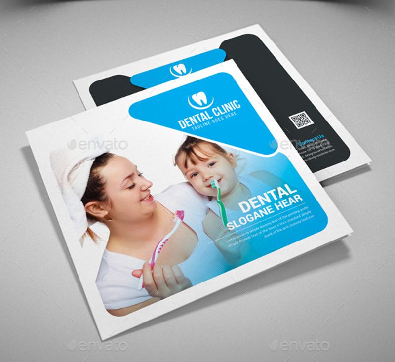 dental square trifold brochure