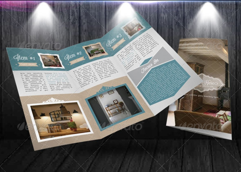 design forniture retro trifold brochure