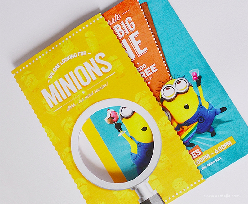 despicable minion party invitation