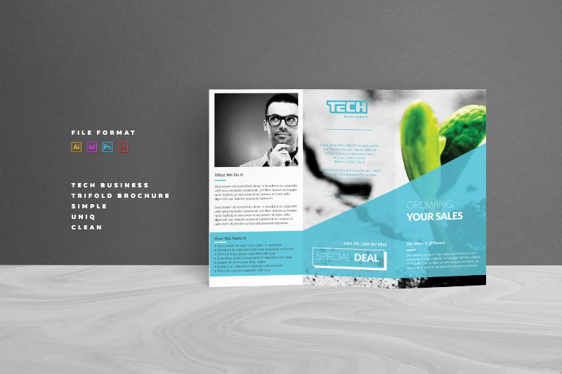 digital corporate brochure template