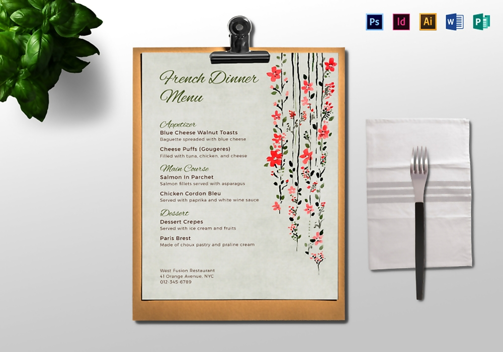 dinner menu mock up 767x537