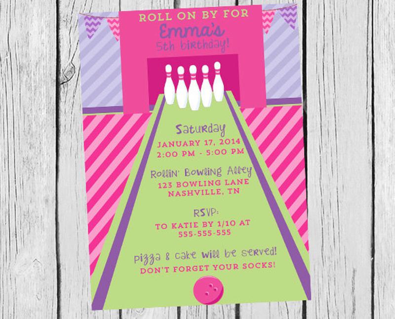 diy bowling party invitation
