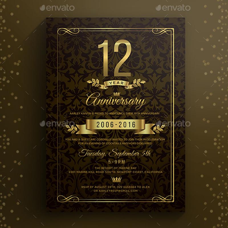 editable anniversary invitation