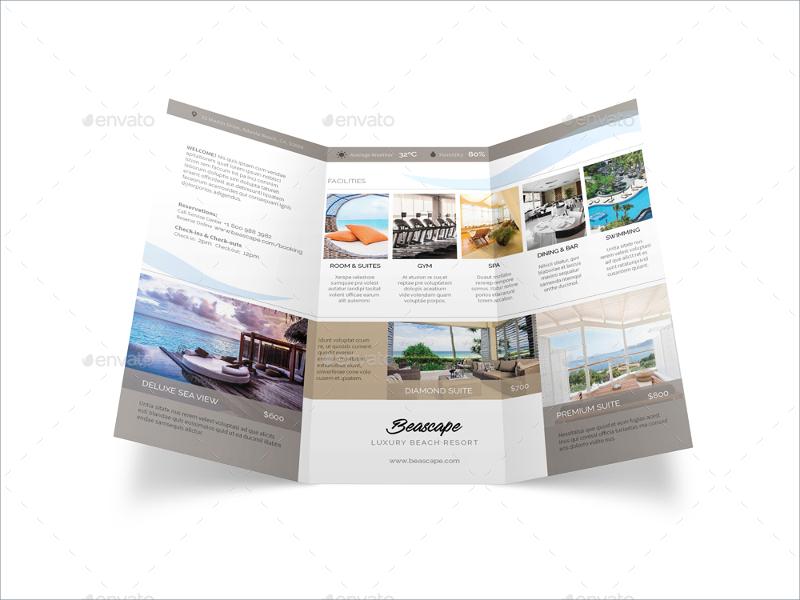 Editable Beach Resort Brochure