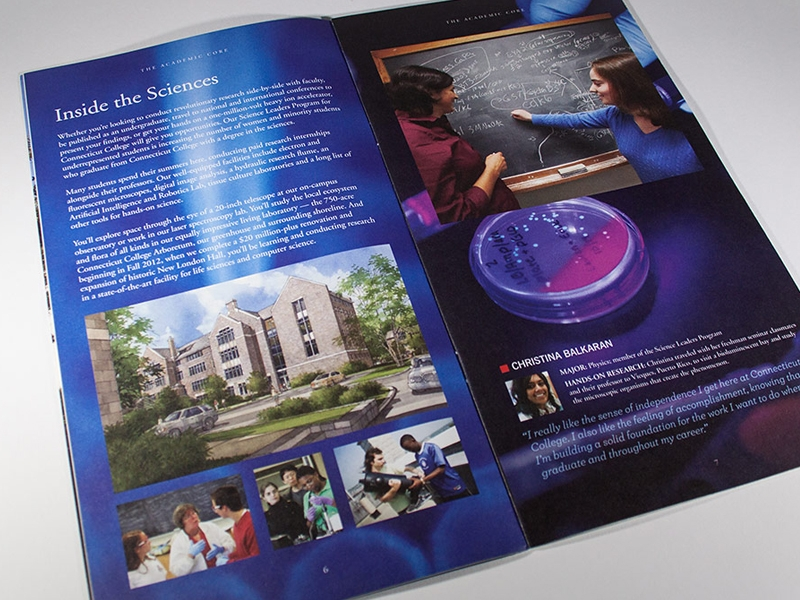 editable college brochure