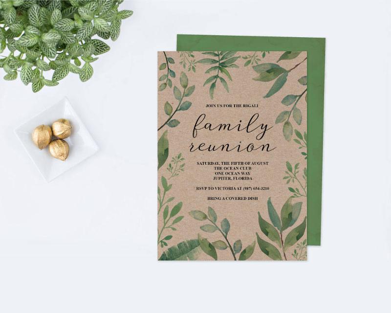 editable family reunion invitation