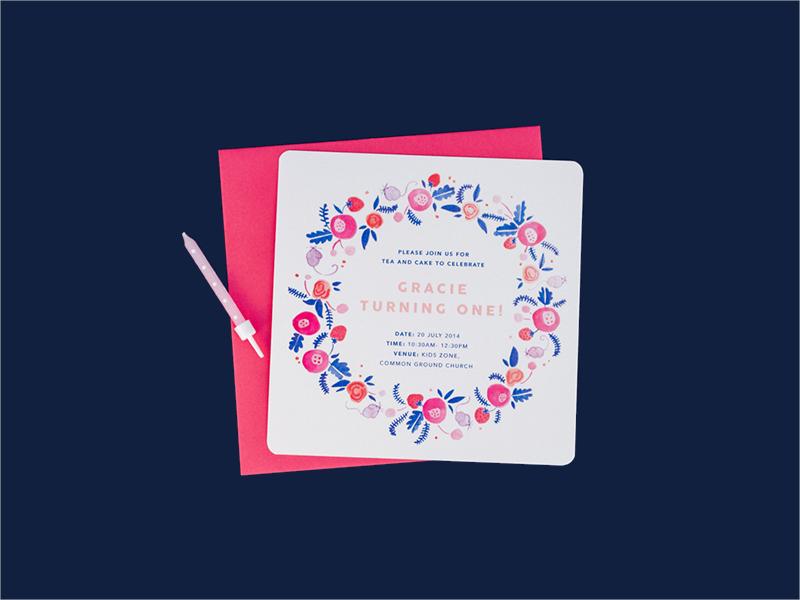 editable first birthday invitation