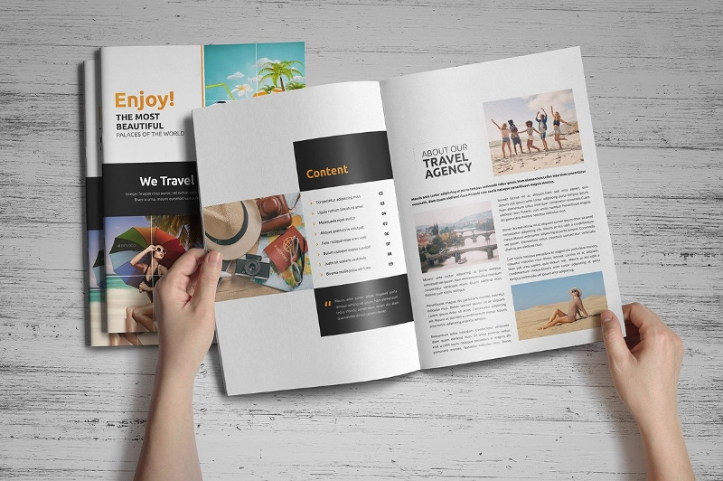 editable holiday travel brochure design