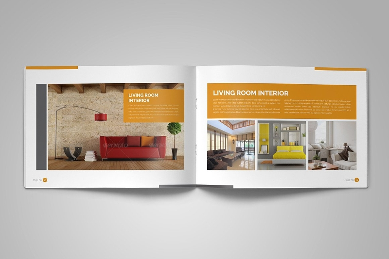 editable interior brochure design