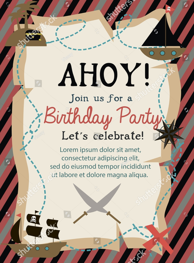 14+ Pirate Birthday Invitation Designs and Examples – PSD, AI