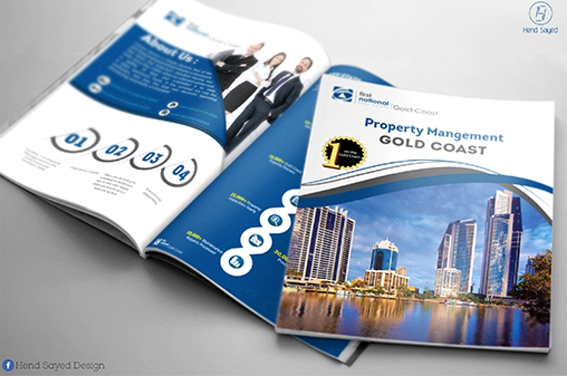 editable real estate agency brochure