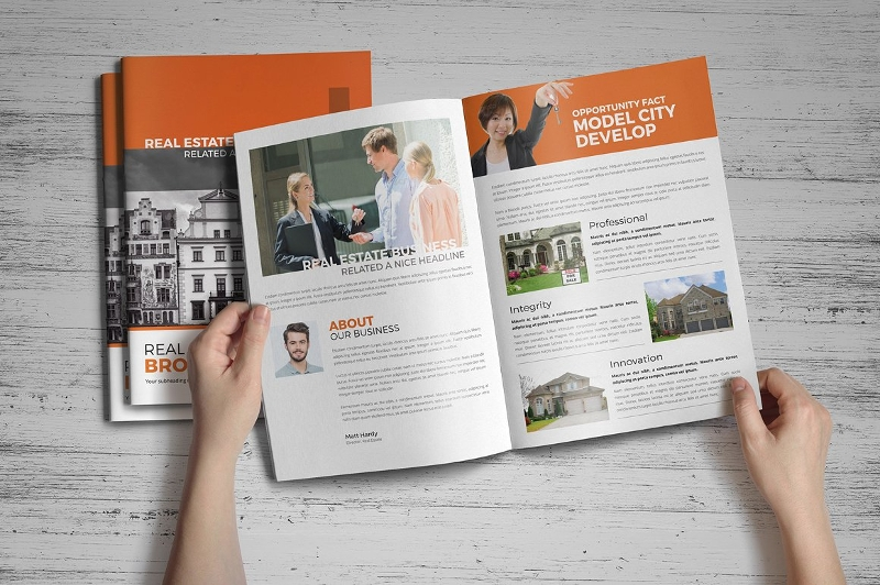editable real estate brochure design